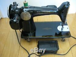 1942 Singer 201 2 Sewing Machine Heavy Duty Serviced Works Tested Running 201-2