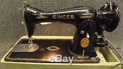 1949 Singer Model 15-91 Heavy Duty Sewing Machine Direct/Gear Drive