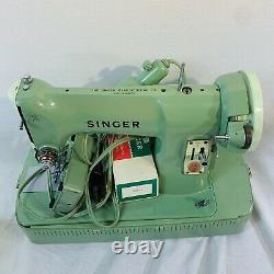 1962 Singer Sewing Machine Heavy Duty Model 185J Serviced and Working Good