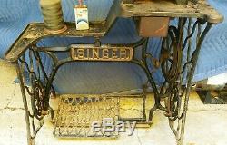 Antiq. Singer 29-4 Industrial Heavy Duty Cobbler Leather Treadle Sewing Machine