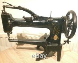 Antique UFA Cylinder arm heavy duty leather Patcher walking foot sewing machine