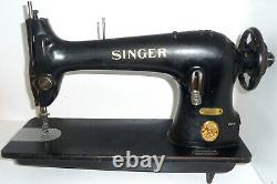 Antique industrial Singer 31K32 heavy duty sewing machine denim leather canvas