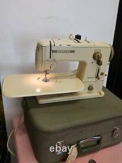 BERNINA 730 Heavy Duty Electric Sewing Machine + Foot Pedal + Case