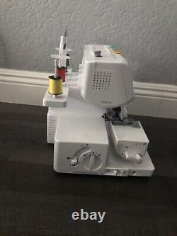 Brother 1034D Heavy-Duty Metal Frame Overlock Machine, White- Used