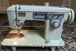 Brother Charger 651 Vintage Heavy Duty Sewing Machine Manual Blue Tested Working