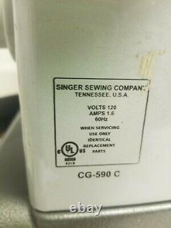Commercial Grade SINGER CG-590 C Sewing Machine CG590 Heavy Duty