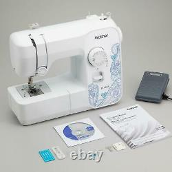 Full Size Sewing Machine 17 Stitch Functions Jam Resistant Heavy Duty White New