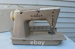 HEAVY DUTY Singer 500A SLANT-O-MATIC Sewing Machine NO RESERVE Manual Cams READ