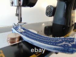 INDUSTRIAL STRENGTH HEAVY DUTY PFAFF 130 SEWING MACHINE 16 oz Leather WOW