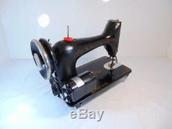 INDUSTRIAL STRENGTH HEAVY DUTY SINGER 99K13 SEWING MACHINE 14 oz Leather WOW