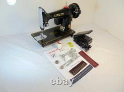 INDUSTRIAL STRENGTH HEAVY DUTY SINGER 99K SEWING MACHINE 14 oz Leather WOW