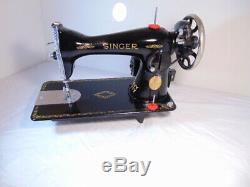 Industrial Strength HEAVY DUTY SINGER 15-88 SEWING MACHINE 16 OZ LEATHER WOW