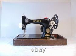 Industrial Strength Heavy Duty Singer 128 Sewing Machine, Double Belting Wow