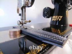Industrial Strength Heavy Duty Singer 15-88 Sewing Machine, Double Belting Wow