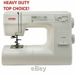 Janome HD3000 Heavy Duty Full Size Sewing Machine +Bonus Kit NEW