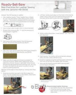 Janome HD3000 Heavy Duty Sewing Machine NEW
