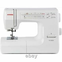 Janome HD5000 White Heavy Duty Sewing Machine + BONUS KIT New