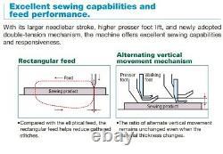 Juki DNU1541-1 Needle, Walking Foot, Lockstitch, Heavy Materials, Complete Setup
