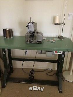 Juki MB-373 Bar Tacker Chainstitch Heavy Duty Industrial Sewing Machine/table