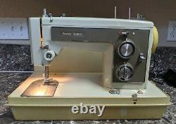 Kenmore 158 14101 Vintage Heavy Duty Sewing Machine with Case Tested Working Used