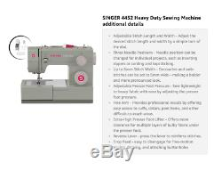 NEW SINGER Heavy Duty 4452 Sewing Machine with 32 Built-In Stitches Metal Frame