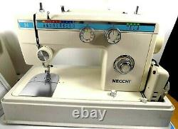 Necchi 534FB Leather Upholstery Denim Heavy Duty Sewing Machine with Hard Case