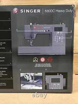 New! Singer 6800C Heavy Duty Sewing Machine 586 Stitch Applications 230256 7146