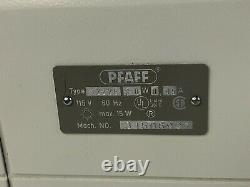 PFAFF 1222E Heavy Duty Sewing Machine Vintage + Case Accessories Foot Pedal