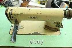 Pfaff 563 Industrial Heavy Duty Single Needle Leather Sewing Machine Reverse