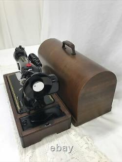 SERVICED Direct Drive Heavy Duty Vtg Singer Sewing Machine Denim Leather 15-91