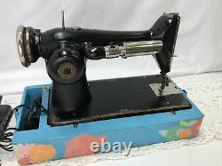 SERVICED Direct Drive Heavy Duty Vtg Singer Sewing Machine Leather 101 Like 201