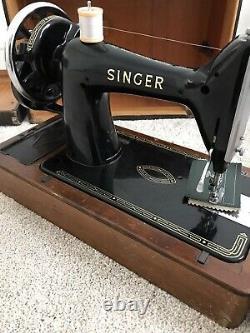 SERVICED Singer 99k Heavy Duty Sewing Machine SEWS LEATHER Canvas Denim