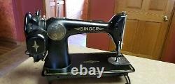 SINGER 1938 Model 201 SN# AE808080 Heavy Duty Sewing Machine VINTAGE PartsRepair