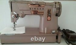 Sewing Machine 1961 Singer 328k Vintage, Style- o- Matic Heavy Duty/Pedal