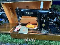 Singer 201k Semi Industrial Sewing Machine. Sews Leather. Heavy Duty