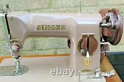 Singer 215G Sewing Machine Industrial Heavy Duty Zig Zag Sail Canvas Denim Cloth