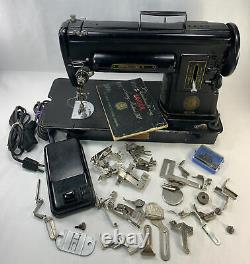 Singer 301A Portable Sewing Machine Heavy Duty As Is for Parts Repair Read