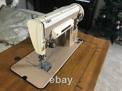 Singer 301A Slant Needle Heavy Duty Sewing Machine withCabinet, serviced Near Mint