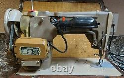 Singer 306W Tan Heavy Duty Sewing Machine with Case New Wiring Tested Working