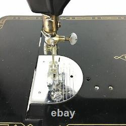 Singer Black 301A Sewing Machine Slant Needle Heavy Duty With Pedal And Light