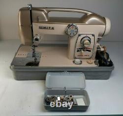 VINTAGE WHITE Model 769 Selec-Tronic ZigZag Width Heavy Duty Sewing Machine