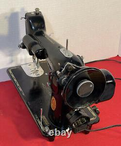 Vintage 1949 Singer 201-2 Heavy Duty Sewing Machine, Extras, SERVICED