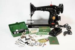 Vintage 1952 Singer 201-2 Direct Drive Heavy Duty Sewing Machine Denim Leather