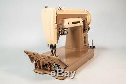 Vintage 1956 Singer 301A Sewing Machine Short Bed Heavy Duty Gear Drive Nice