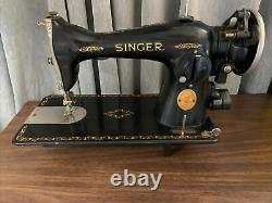 Vintage Antique Singer Heavy Duty Sewing Machine 1937 With Light