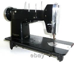 Vintage NECCHI BU Zig-Zag Sewing Machine antique heavy duty full metal needles
