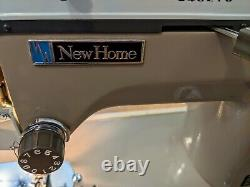 Vintage New Home Janome Model 535 Heavy Duty Sewing Machine with Foot Pedal Case