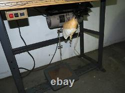 Vintage Singer 107G1 Zig Zag Heavy Duty Industrial Sewing Machine & Table Setup