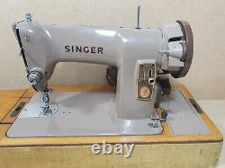 Vintage Singer 185K Heavy Duty Electric Sewing Machine With Accessories