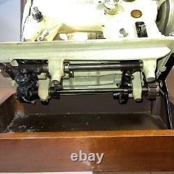 Vintage Singer 319W Sewing Machine Green Zig Zag Heavy Duty Tested with Case